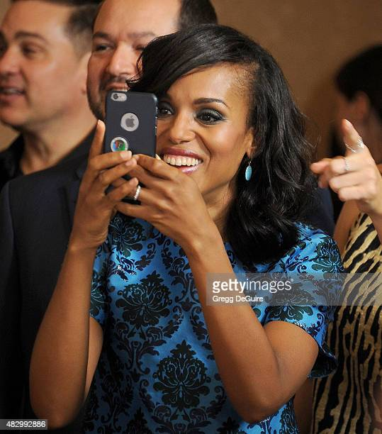 Actress Kerry Washington arrives at the Disney ABC Television Group's 2015 TCA Summer Press Tour on August 4 2015 in Beverly Hills California
