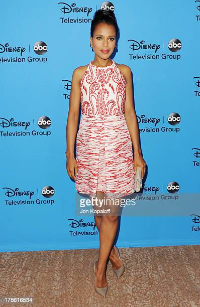 Actress Kerry Washington arrives at the Disney/ABC Party 2013 Television Critics Association's Summer Press Tour at The Beverly Hilton Hotel on...