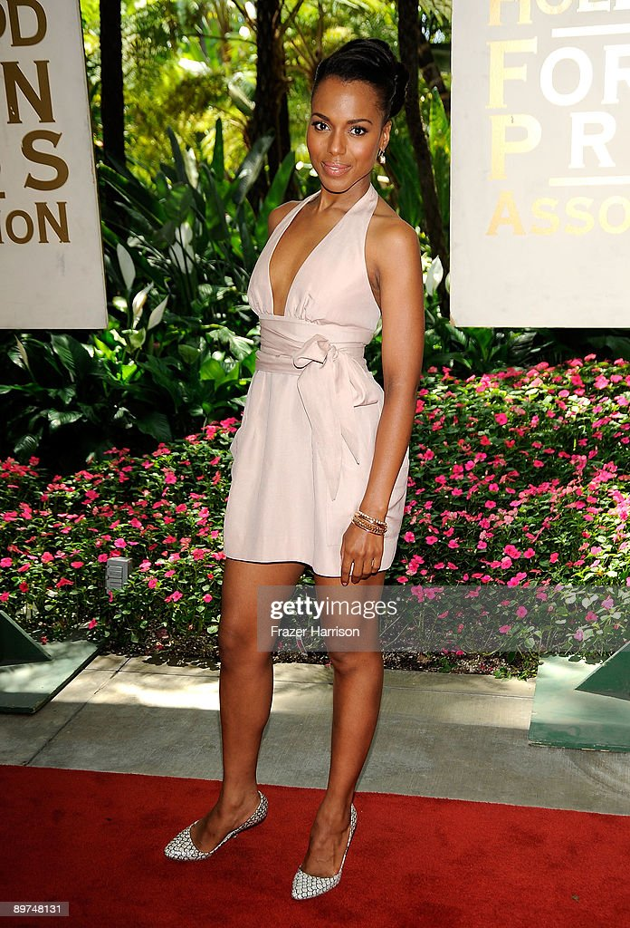 Actress Kerry Washington arrives at the Hollywood Foreign Press Association's installation luncheon held at the Beverly Hills Hotel on August 11, 2009 in Beverly Hills, California.
