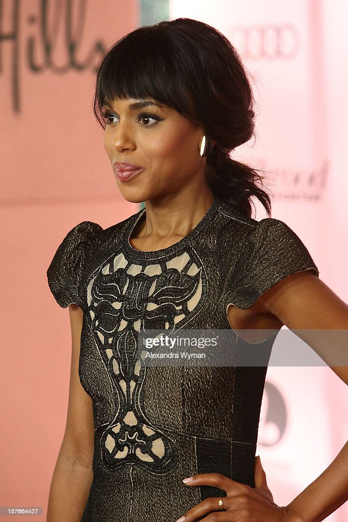 Actress Kerry Washington arrives at The Hollywood Reporter's 'Power 100: Women In Entertainment' Breakfast at the Beverly Hills Hotel on December 5, 2012 in Beverly Hills, California.