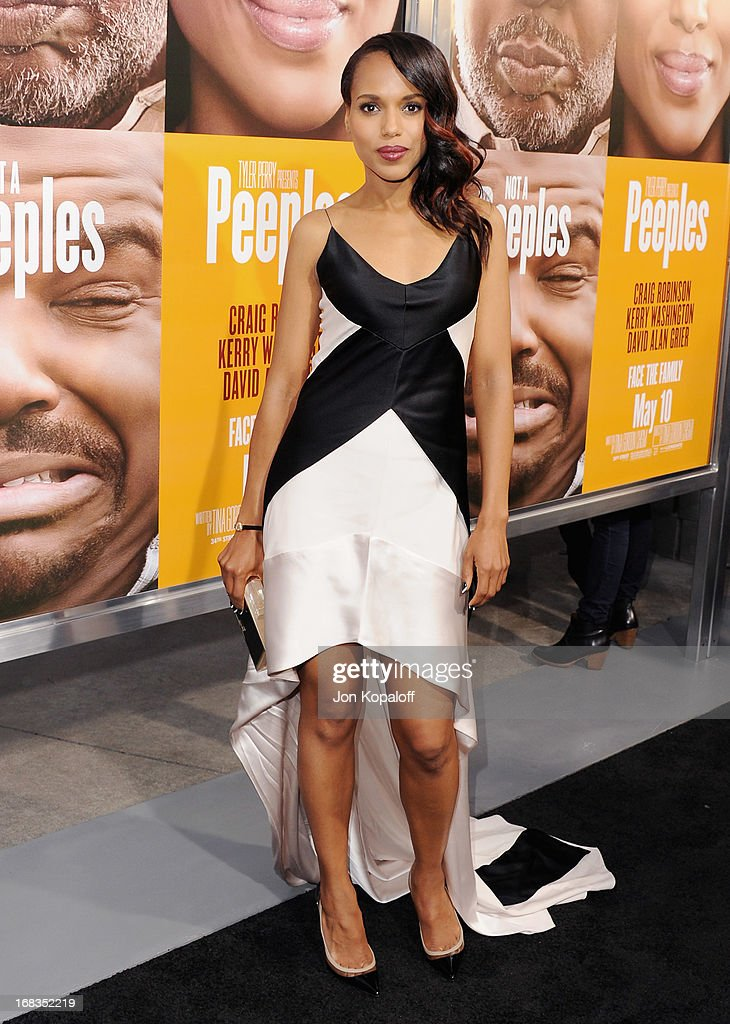 Actress Kerry Washington arrives at the Los Angeles Premiere 'Peeples' at ArcLight Hollywood on May 8, 2013 in Hollywood, California.