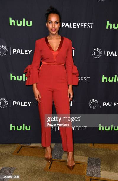Actress Kerry Washington arrives at the screening and panel for 'Scandal' at The Paley Center For Media's 34th Annual PaleyFest Los Angeles at Dolby...