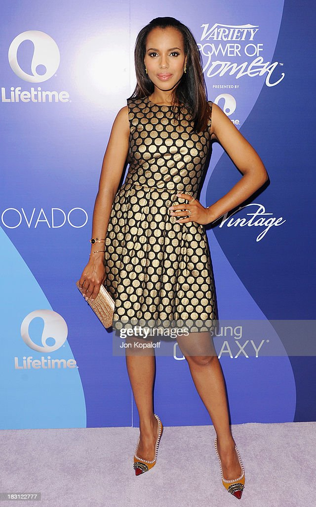 Actress <a gi-track='captionPersonalityLinkClicked' href=/galleries/search?phrase=Kerry+Washington&family=editorial&specificpeople=201534 ng-click='$event.stopPropagation()'>Kerry Washington</a> arrives at Variety's 5th Annual Power Of Women Event at the Beverly Wilshire Four Seasons Hotel on October 4, 2013 in Beverly Hills, California.