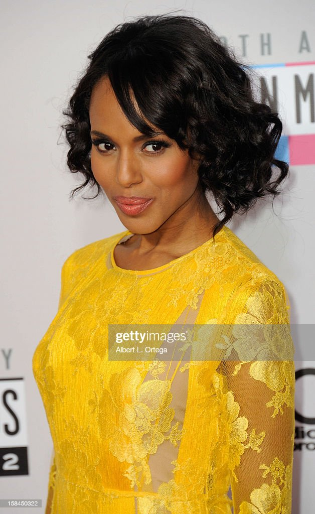 Actress Kerry Washington arrives for the 40th Anniversary American Music Awards - Arrivals held at Nokia Theater L.A. Live on November 18, 2012 in Los Angeles, California.