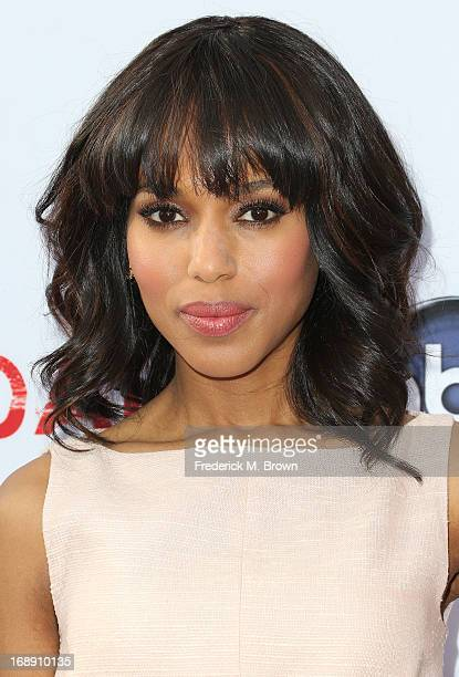 Actress Kerry Washington attends Academy of Television Arts Sciences' Presents an Evening with 'Scandal' at the Leonard H Goldenson Theatre on May 16...