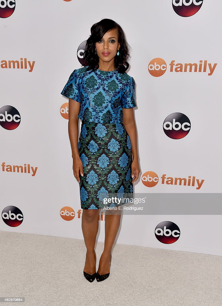 Actress <a gi-track='captionPersonalityLinkClicked' href=/galleries/search?phrase=Kerry+Washington&family=editorial&specificpeople=201534 ng-click='$event.stopPropagation()'>Kerry Washington</a> attends Disney ABC Television Group's 2015 TCA Summer Press Tour at the Beverly Hilton Hotel on August 4, 2015 in Beverly Hills, California.