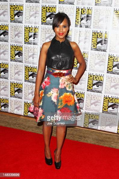 Actress Kerry Washington attends 'Django Unchained' at ComicCon 2012 at Hilton San Diego Bayfront Hotel on July 14 2012 in San Diego California