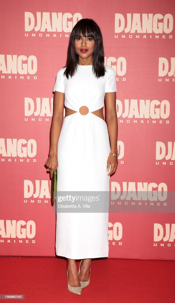 Actress Kerry Washington attends 'Django Unchained' premiere at Cinema Adriano on January 4, 2013 in Rome, Italy.