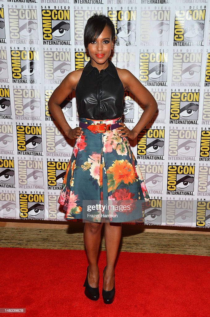 Actress <a gi-track='captionPersonalityLinkClicked' href=/galleries/search?phrase=Kerry+Washington&family=editorial&specificpeople=201534 ng-click='$event.stopPropagation()'>Kerry Washington</a> attends 'DJango Unchained' Press Line during Comic-Con International 2012 at Hilton San Diego Bayfront Hotel on July 14, 2012 in San Diego, California.