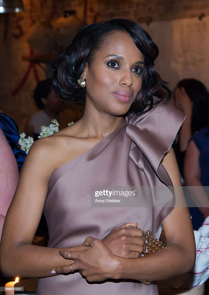 Actress <a gi-track='captionPersonalityLinkClicked' href=/galleries/search?phrase=Kerry+Washington&family=editorial&specificpeople=201534 ng-click='$event.stopPropagation()'>Kerry Washington</a> attends ELLE & Tod's Celebrate <a gi-track='captionPersonalityLinkClicked' href=/galleries/search?phrase=Kerry+Washington&family=editorial&specificpeople=201534 ng-click='$event.stopPropagation()'>Kerry Washington</a> at Il Buco Alimentari & Vineria on May 15, 2013 in New York City.