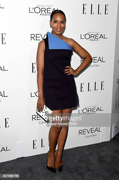 Actress Kerry Washington attends ELLE's 21st Annual Women in Hollywood Celebration at the Four Seasons Hotel on October 20 2014 in Beverly Hills...