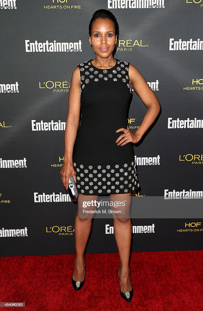 Actress Kerry Washington attends Entertainment Weekly's Pre Emmy Party at the Fig & Olive Melrose Place on August 23, 2014 in West Hollywood, California.