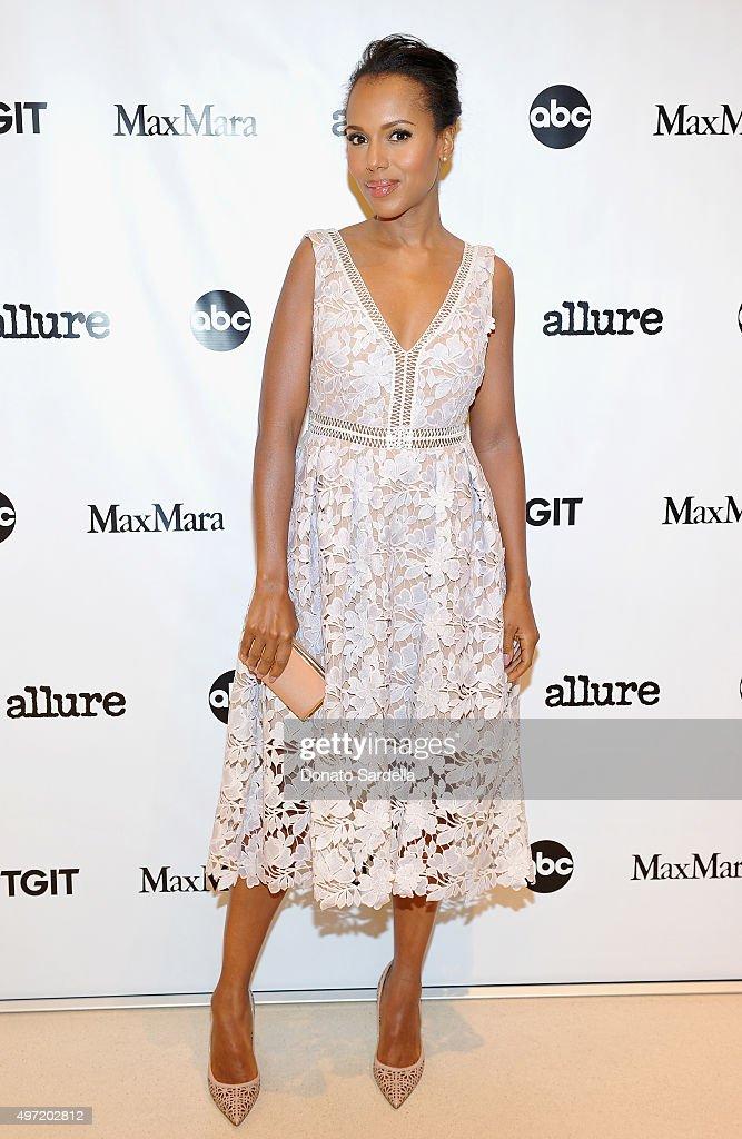 Actress Kerry Washington attends 'MaxMara Allure Celebrate ABC's #TGIT' at MaxMara on November 14 2015 in Beverly Hills California