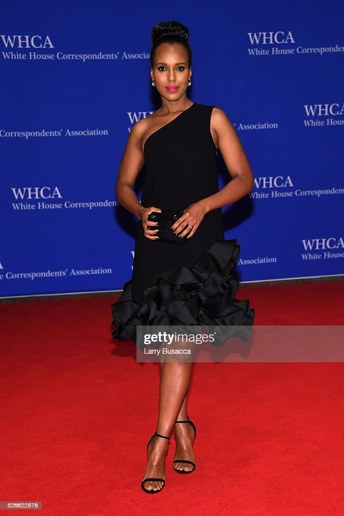 Actress Kerry Washington attends the 102nd White House Correspondents' Association Dinner on April 30, 2016 in Washington, DC.