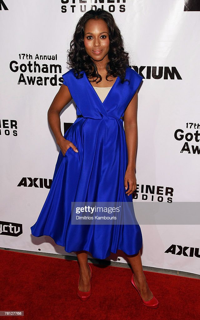 Actress <a gi-track='captionPersonalityLinkClicked' href=/galleries/search?phrase=Kerry+Washington&family=editorial&specificpeople=201534 ng-click='$event.stopPropagation()'>Kerry Washington</a> attends the 17th Annual Gotham Awards presented by IFP at Steiner Studios on November 27, 2007 in Brooklyn, NY.