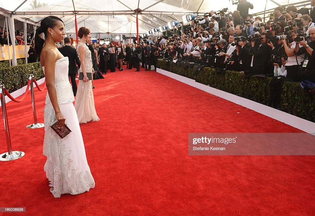 Actress Kerry Washington attends the 19th Annual Screen Actors Guild Awards at The Shrine Auditorium on January 27, 2013 in Los Angeles, California. (Photo by Stefanie Keenan/WireImage) 23116_025_0619.jpg
