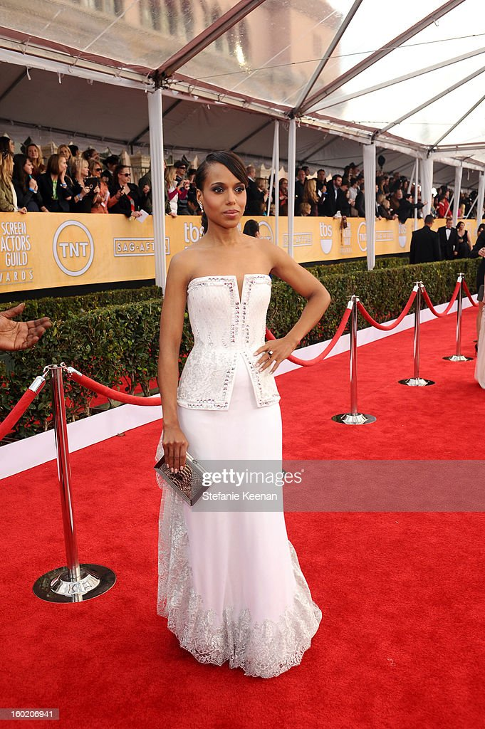 Actress Kerry Washington attends the 19th Annual Screen Actors Guild Awards at The Shrine Auditorium on January 27, 2013 in Los Angeles, California. (Photo by Stefanie Keenan/WireImage) 23116_025_0625.jpg