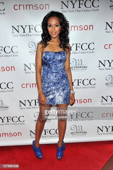 Actress Kerry Washington attends the 2010 New York Film Critics Circle Awards at Crimson on January 10 2011 in New York City