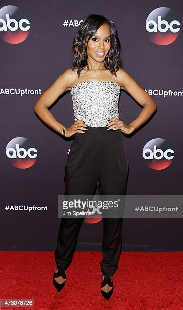 Actress Kerry Washington attends the 2015 ABC upfront presentation at Avery Fisher Hall at Lincoln Center for the Performing Arts on May 12 2015 in...