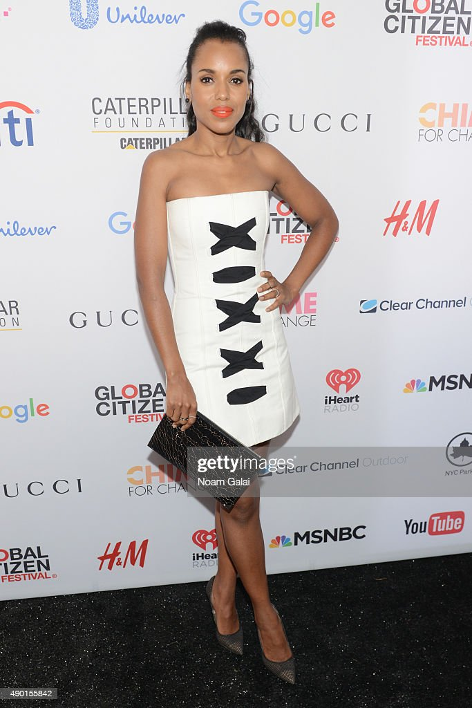 Actress <a gi-track='captionPersonalityLinkClicked' href=/galleries/search?phrase=Kerry+Washington&family=editorial&specificpeople=201534 ng-click='$event.stopPropagation()'>Kerry Washington</a> attends the 2015 Global Citizen Festival to end extreme poverty by 2030 in Central Park on September 26, 2015 in New York City.