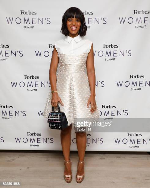 Actress Kerry Washington attends the 2017 Forbes Women's Summit at Spring Studios on June 13 2017 in New York City