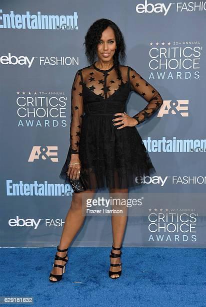 Actress Kerry Washington attends The 22nd Annual Critics' Choice Awards at Barker Hangar on December 11 2016 in Santa Monica California