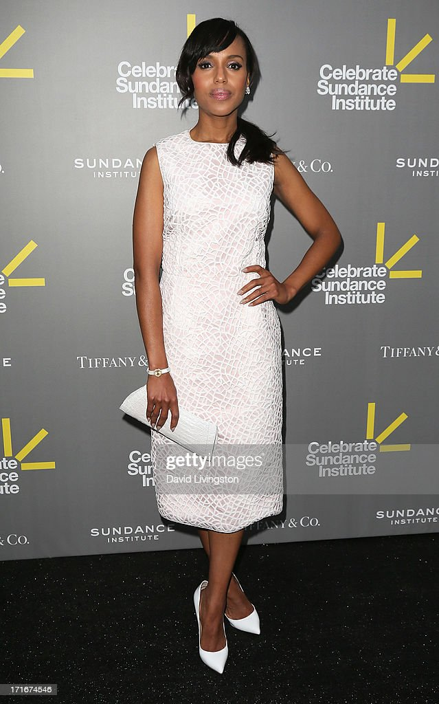 Actress <a gi-track='captionPersonalityLinkClicked' href=/galleries/search?phrase=Kerry+Washington&family=editorial&specificpeople=201534 ng-click='$event.stopPropagation()'>Kerry Washington</a> attends the 3rd Annual Celebrate Sundance Institute Los Angeles Benefit at The Lot on June 5, 2013 in West Hollywood, California.
