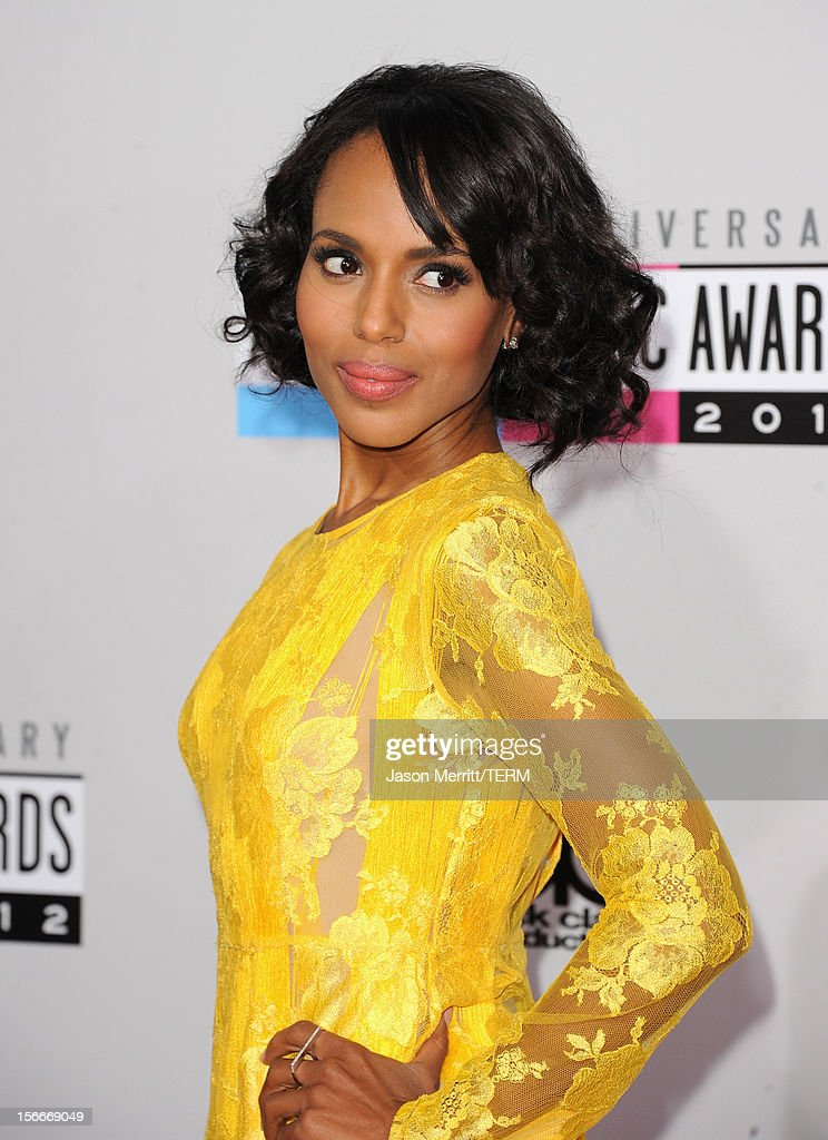 Actress Kerry Washington attends the 40th American Music Awards held at Nokia Theatre L.A. Live on November 18, 2012 in Los Angeles, California.