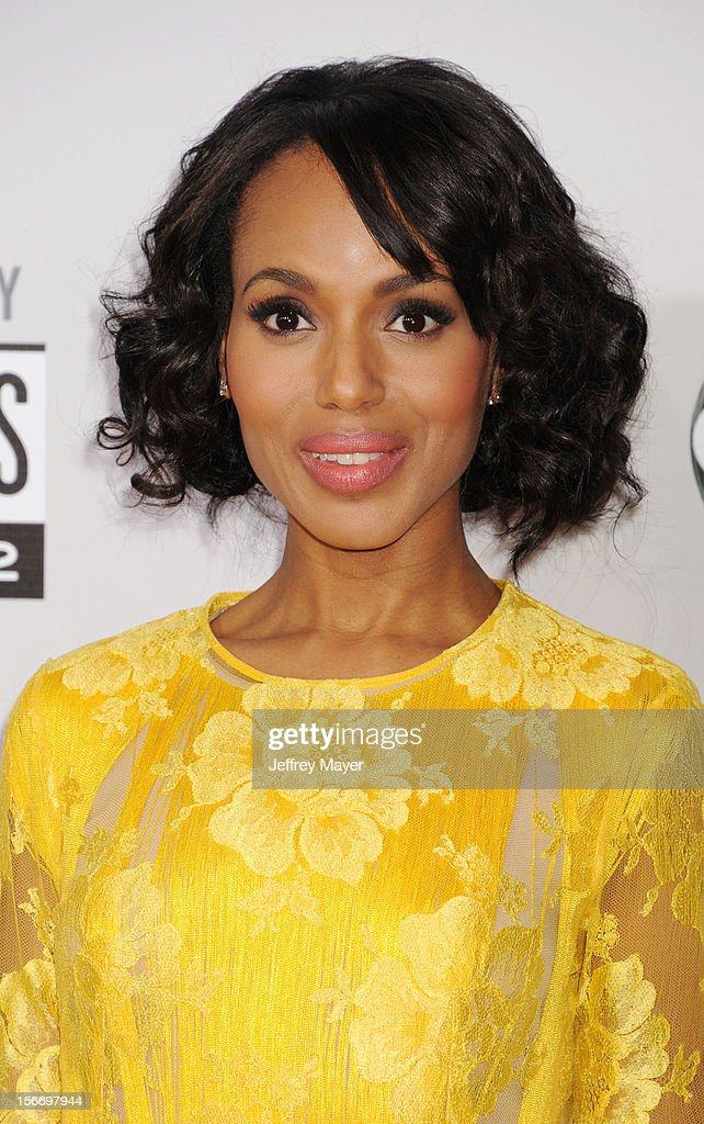 Actress Kerry Washington attends the 40th Anniversary American Music Awards held at Nokia Theatre L.A. Live on November 18, 2012 in Los Angeles, California.