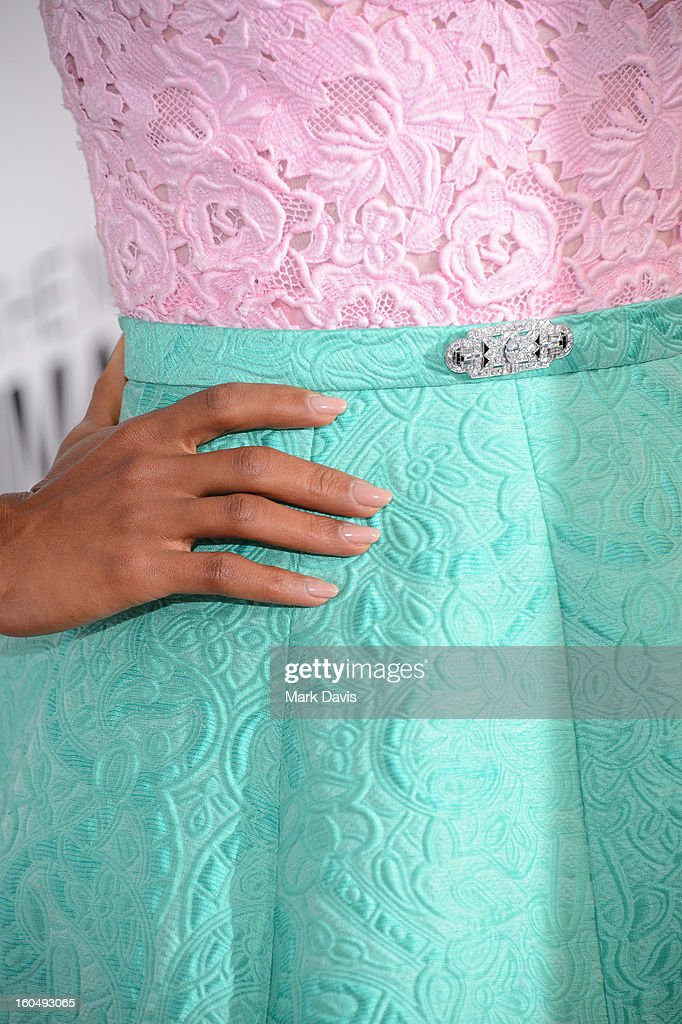 Actress Kerry Washington (fashion detail) attends the 44th NAACP Image Awards at The Shrine Auditorium on February 1, 2013 in Los Angeles, California.