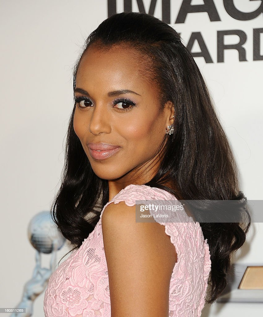 Actress <a gi-track='captionPersonalityLinkClicked' href=/galleries/search?phrase=Kerry+Washington&family=editorial&specificpeople=201534 ng-click='$event.stopPropagation()'>Kerry Washington</a> attends the 44th NAACP Image Awards at The Shrine Auditorium on February 1, 2013 in Los Angeles, California.