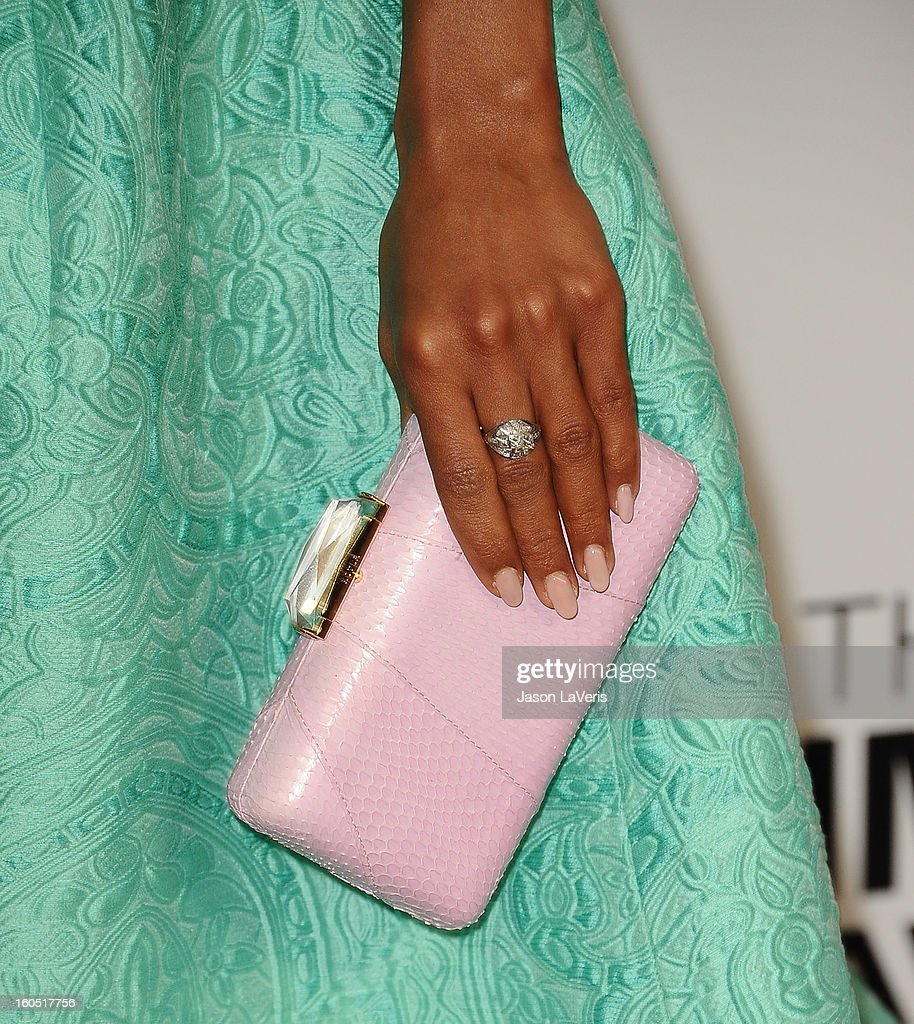 Actress Kerry Washington (handbag and jewelry detail) attends the 44th NAACP Image Awards at The Shrine Auditorium on February 1, 2013 in Los Angeles, California.