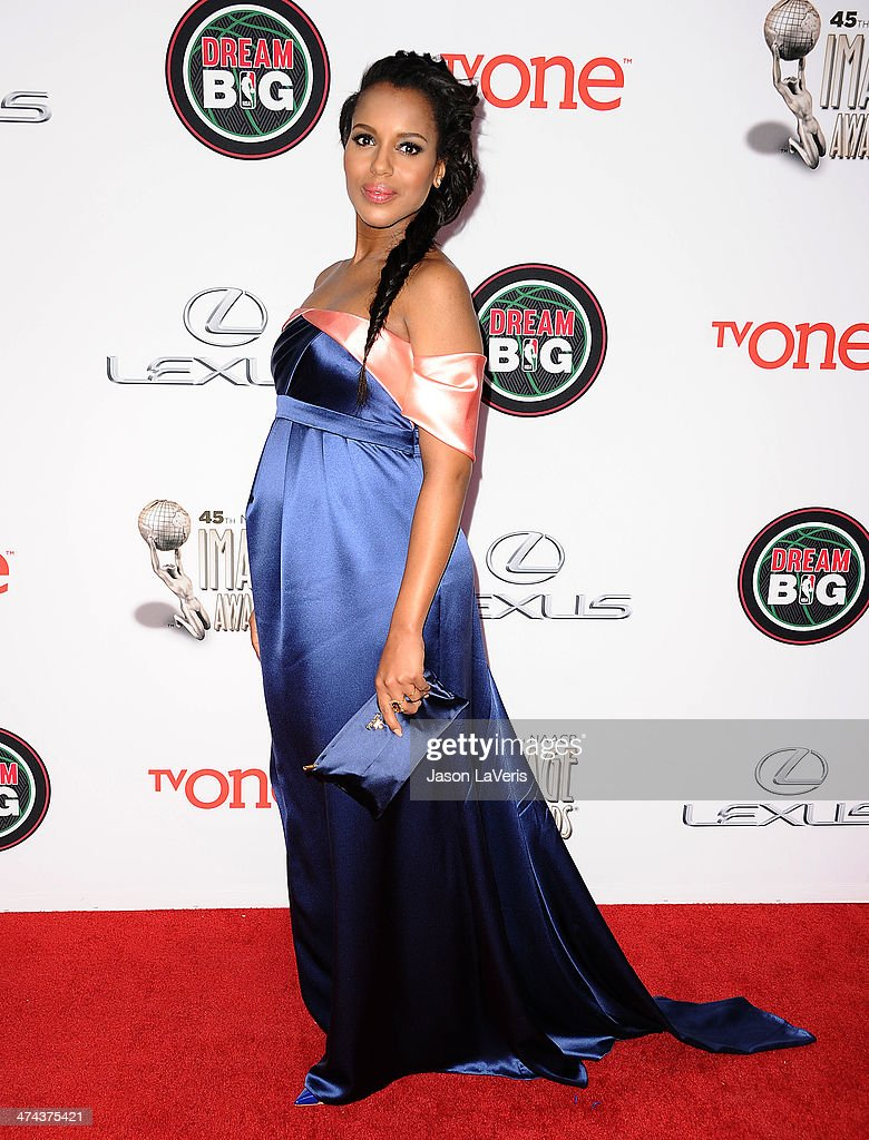Actress Kerry Washington attends the 45th NAACP Image Awards at Pasadena Civic Auditorium on February 22, 2014 in Pasadena, California.