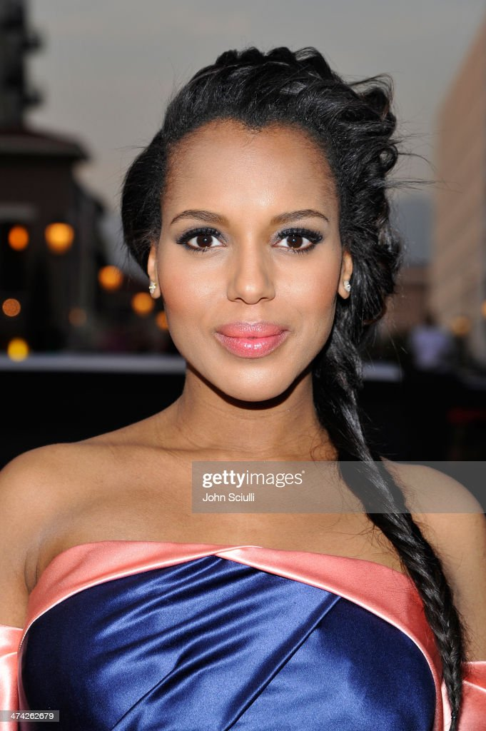 Actress Kerry Washington attends the 45th NAACP Image Awards presented by TV One at Pasadena Civic Auditorium on February 22 2014 in Pasadena...