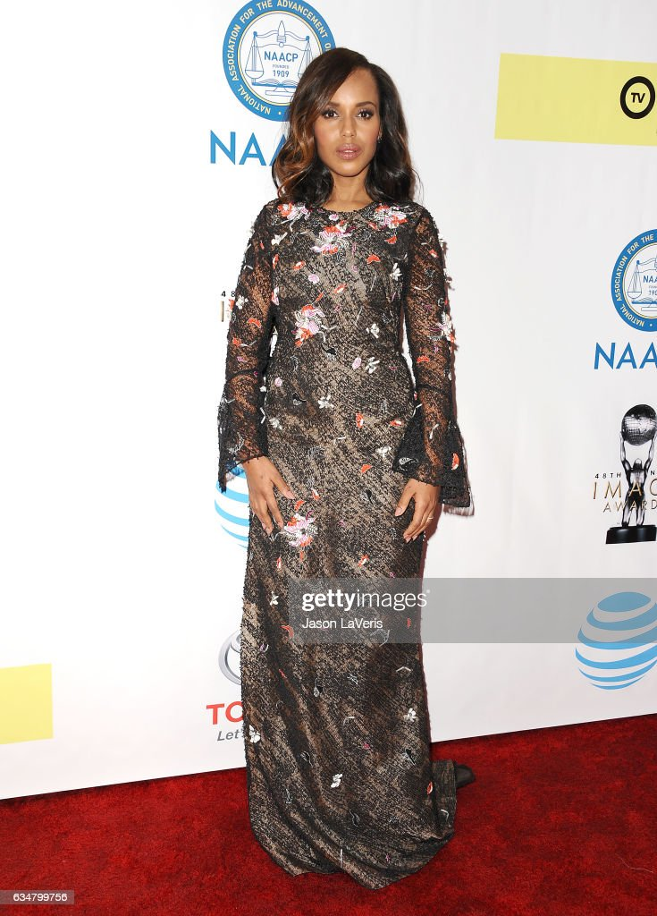 Actress Kerry Washington attends the 48th NAACP Image Awards at Pasadena Civic Auditorium on February 11, 2017 in Pasadena, California.
