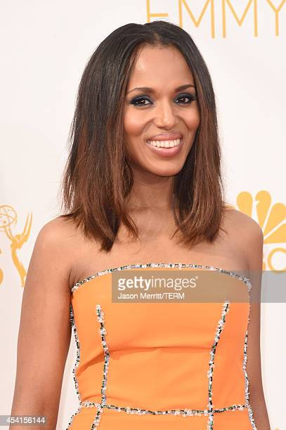 Actress Kerry Washington attends the 66th Annual Primetime Emmy Awards held at Nokia Theatre LA Live on August 25 2014 in Los Angeles California