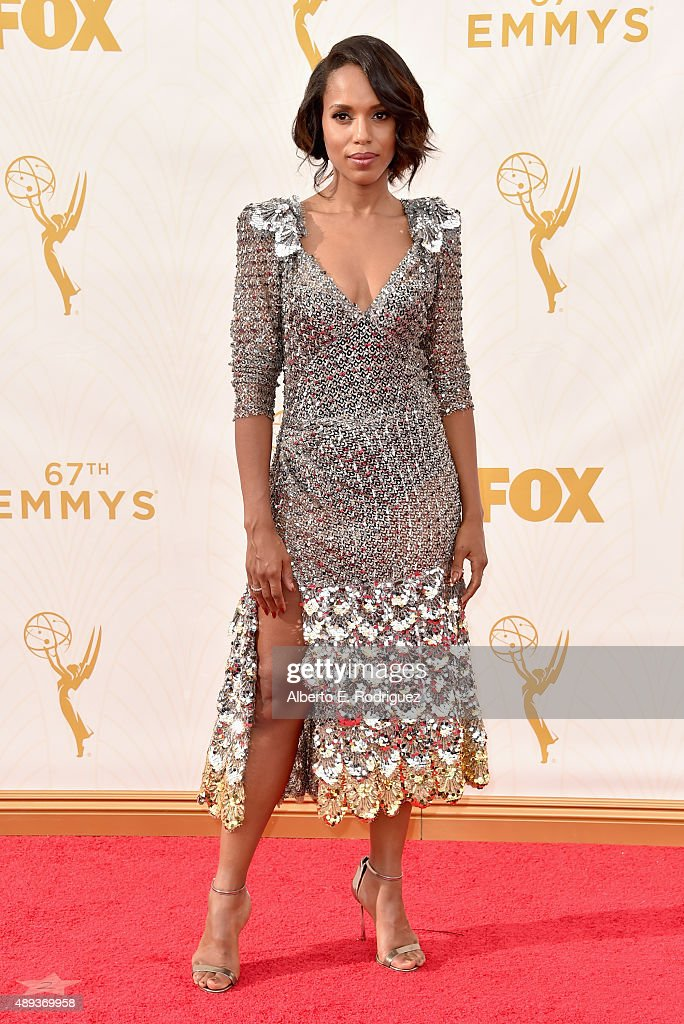 Actress <a gi-track='captionPersonalityLinkClicked' href=/galleries/search?phrase=Kerry+Washington&family=editorial&specificpeople=201534 ng-click='$event.stopPropagation()'>Kerry Washington</a> attends the 67th Emmy Awards at Microsoft Theater on September 20, 2015 in Los Angeles, California. 25720_001