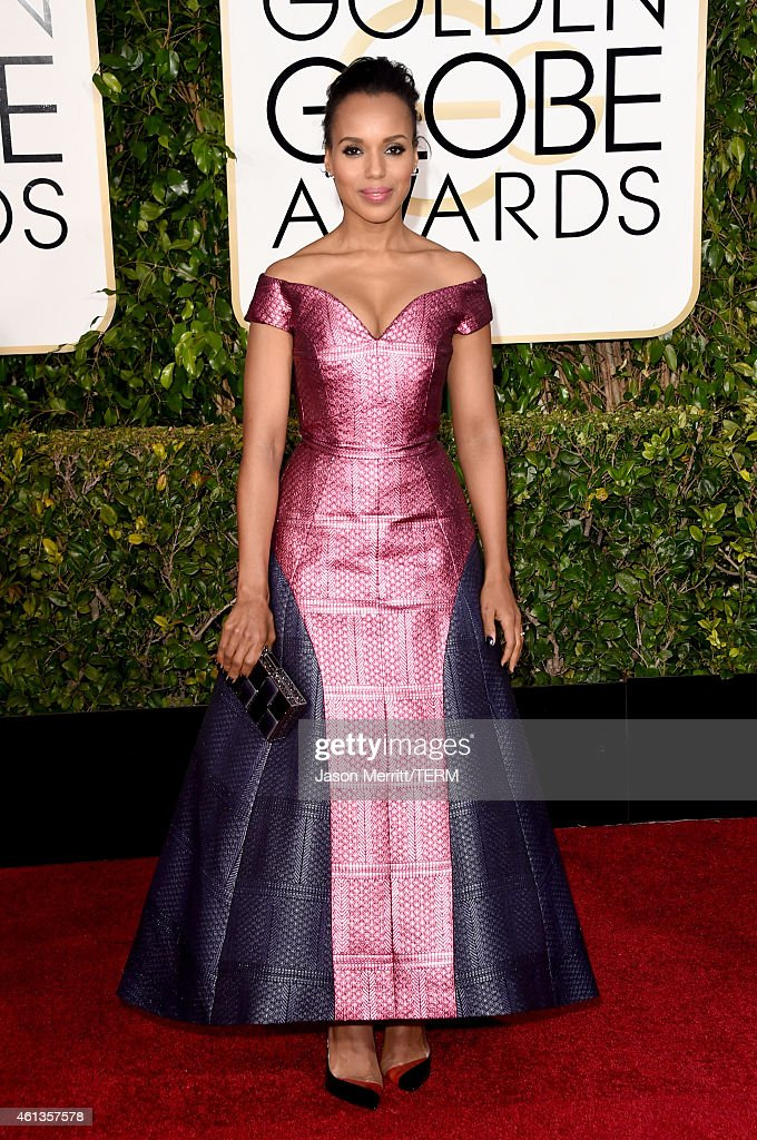 Actress <a gi-track='captionPersonalityLinkClicked' href=/galleries/search?phrase=Kerry+Washington&family=editorial&specificpeople=201534 ng-click='$event.stopPropagation()'>Kerry Washington</a> attends the 72nd Annual Golden Globe Awards at The Beverly Hilton Hotel on January 11, 2015 in Beverly Hills, California.