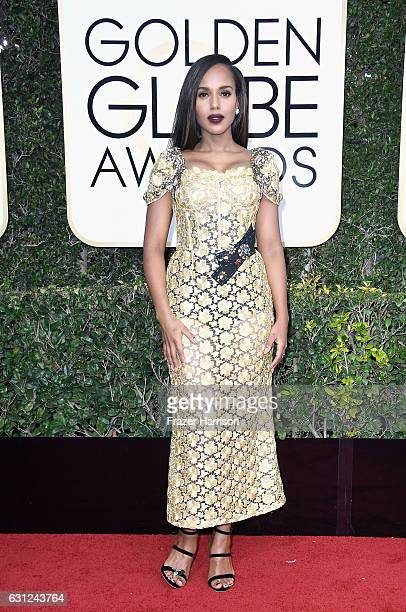 Actress Kerry Washington attends the 74th Annual Golden Globe Awards at The Beverly Hilton Hotel on January 8 2017 in Beverly Hills California