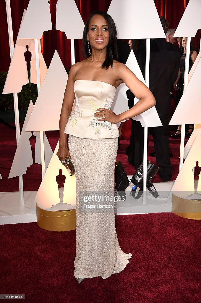 Actress Kerry Washington attends the 87th Annual Academy Awards at Hollywood Highland Center on February 22 2015 in Hollywood California