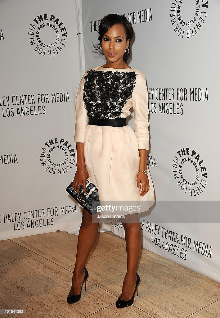 Actress <a gi-track='captionPersonalityLinkClicked' href=/galleries/search?phrase=Kerry+Washington&family=editorial&specificpeople=201534 ng-click='$event.stopPropagation()'>Kerry Washington</a> attends the ABC fall preview party at The Paley Center for Media on September 11, 2012 in Beverly Hills, California.