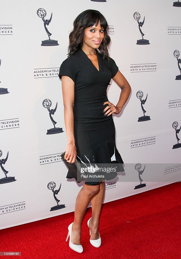 Actress <a gi-track='captionPersonalityLinkClicked' href=/galleries/search?phrase=Kerry+Washington&family=editorial&specificpeople=201534 ng-click='$event.stopPropagation()'>Kerry Washington</a> attends the Academy Of Television Arts & Sciences presentation of 'Welcome To ShondaLand: An Evening With Shonda Rhimes & Friends' at the Leonard H. Goldenson Theatre on April 2, 2012 in North Hollywood, California.