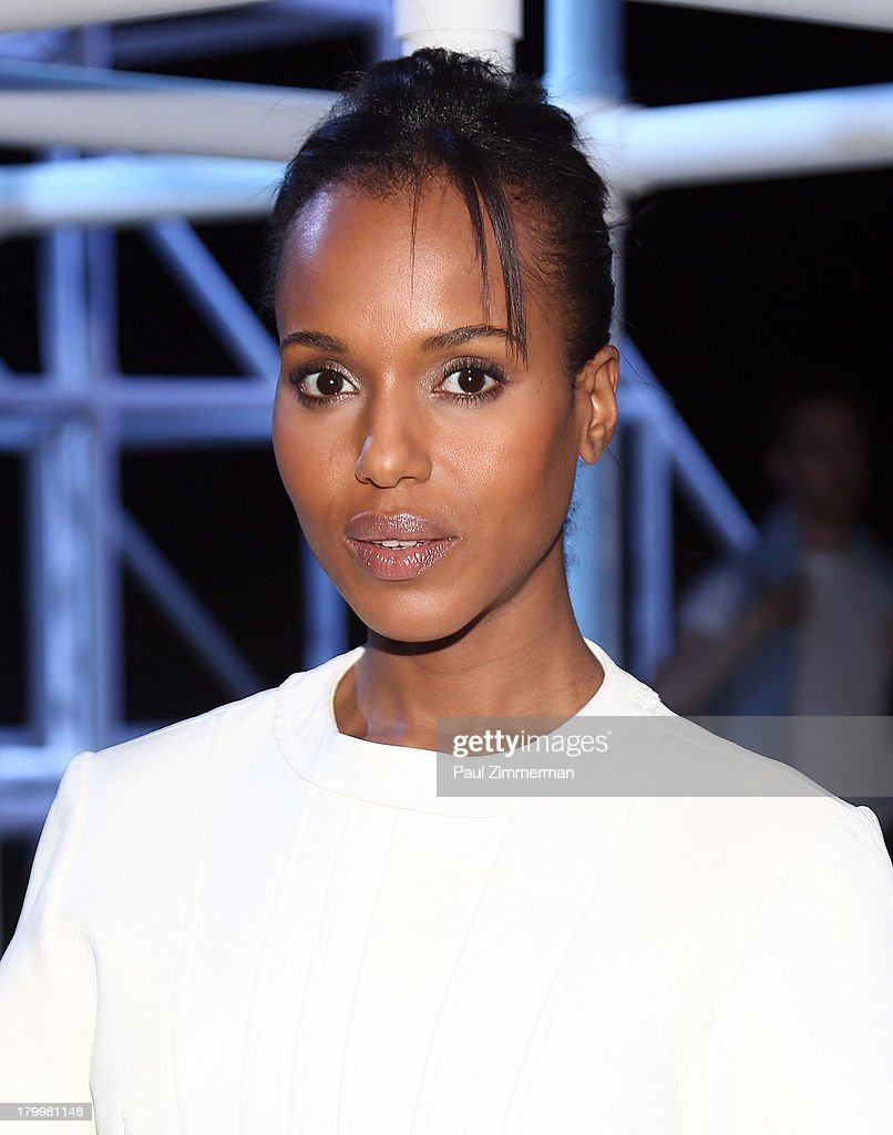 Actress <a gi-track='captionPersonalityLinkClicked' href=/galleries/search?phrase=Kerry+Washington&family=editorial&specificpeople=201534 ng-click='$event.stopPropagation()'>Kerry Washington</a> attends the Alexander Wang show during Spring 2014 Mercedes-Benz Fashion Week at Pier 94 on September 7, 2013 in New York City.