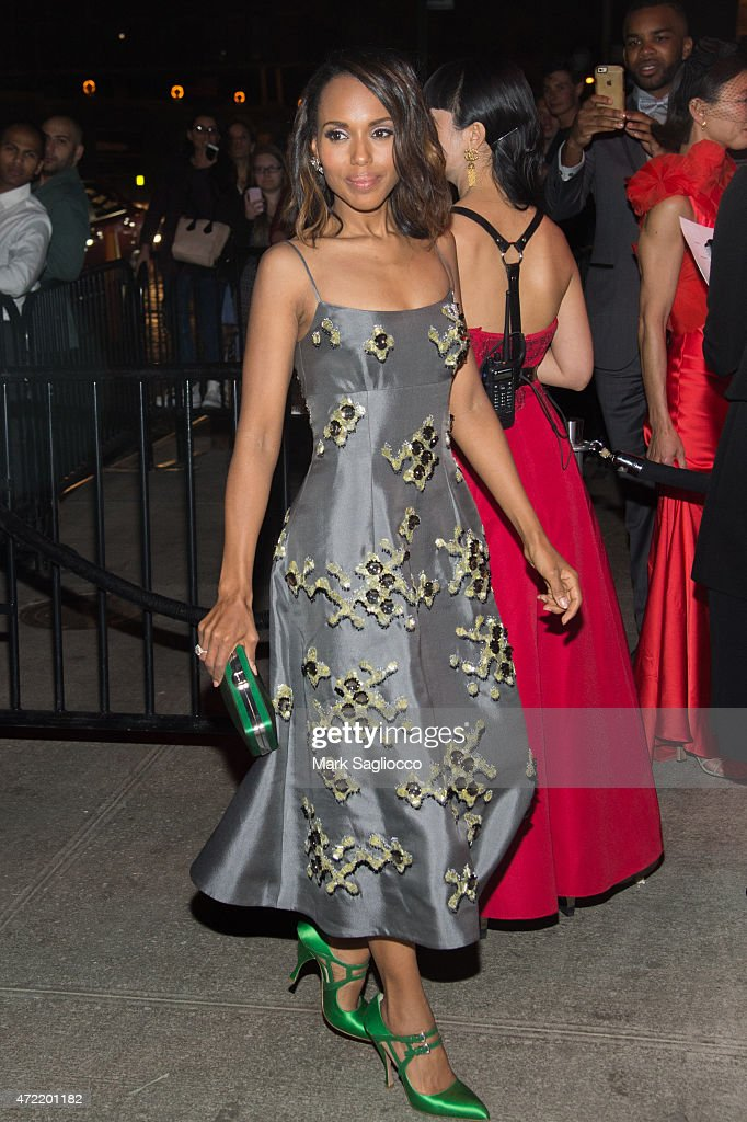 Actress Kerry Washington attends the 'China Through The Looking Glass' Costume Institute Benefit Gala After Party on May 4 2015 at The Standard Hotel...