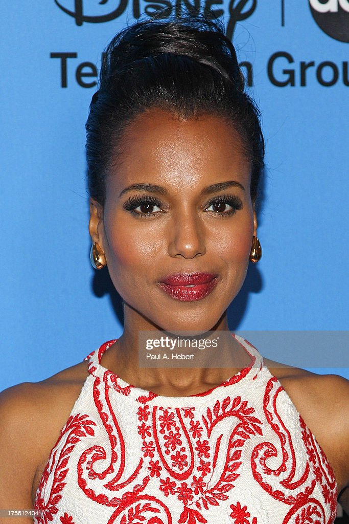 Actress <a gi-track='captionPersonalityLinkClicked' href=/galleries/search?phrase=Kerry+Washington&family=editorial&specificpeople=201534 ng-click='$event.stopPropagation()'>Kerry Washington</a> attends the Disney & ABC Television Group's '2013 Summer TCA Tour' at The Beverly Hilton Hotel on August 4, 2013 in Beverly Hills, California.