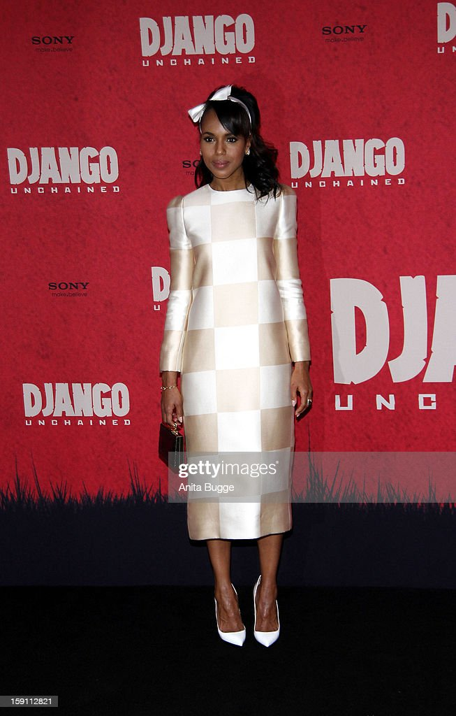 Actress Kerry Washington attends the 'Django Unchained' Berlin Photocall at Hotel de Rome on January 8, 2013 in Berlin, Germany.