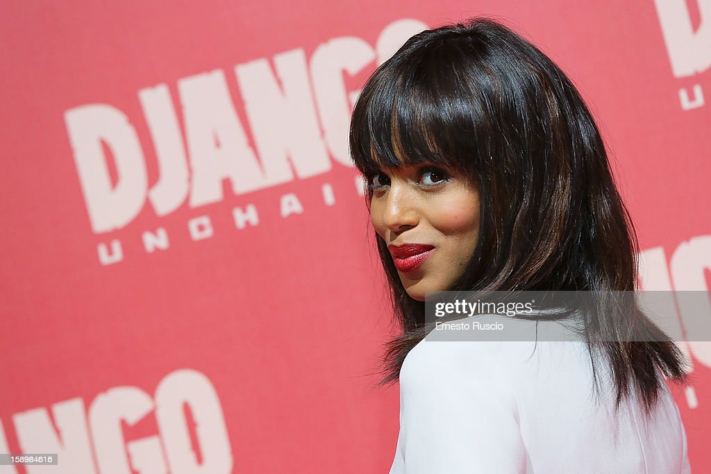 Actress Kerry Washington attends the 'Django Unchained' premiere at Cinema Adriano on January 4, 2013 in Rome, Italy.