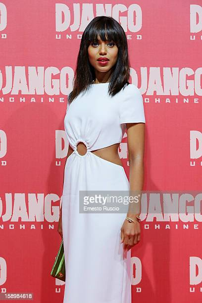 Actress Kerry Washington attends the 'Django Unchained' premiere at Cinema Adriano on January 4 2013 in Rome Italy