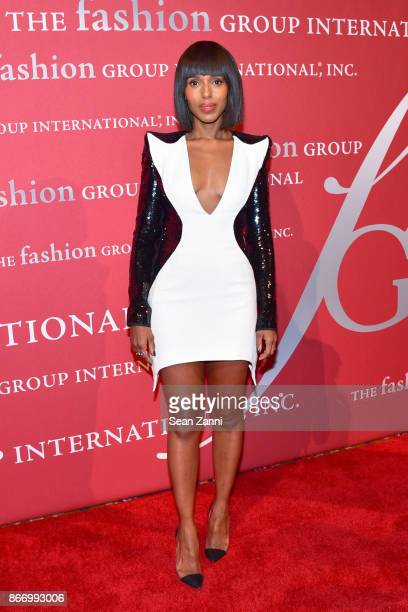 Actress Kerry Washington attends the Fashion Group International's 34th Annual Night of Stars Gala at Cipriani Wall Street on October 26 2017 in New...