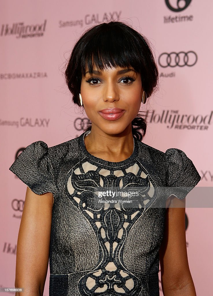 Actress <a gi-track='captionPersonalityLinkClicked' href=/galleries/search?phrase=Kerry+Washington&family=editorial&specificpeople=201534 ng-click='$event.stopPropagation()'>Kerry Washington</a> attends The Hollywood Reporter's 'Power 100: Women In Entertainment' Breakfast at the Beverly Hills Hotel on December 5, 2012 in Beverly Hills, California.